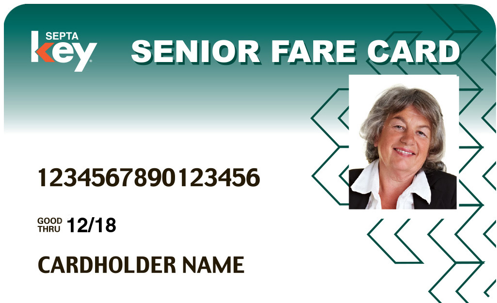 SEPTA Key Senior Photo ID Card