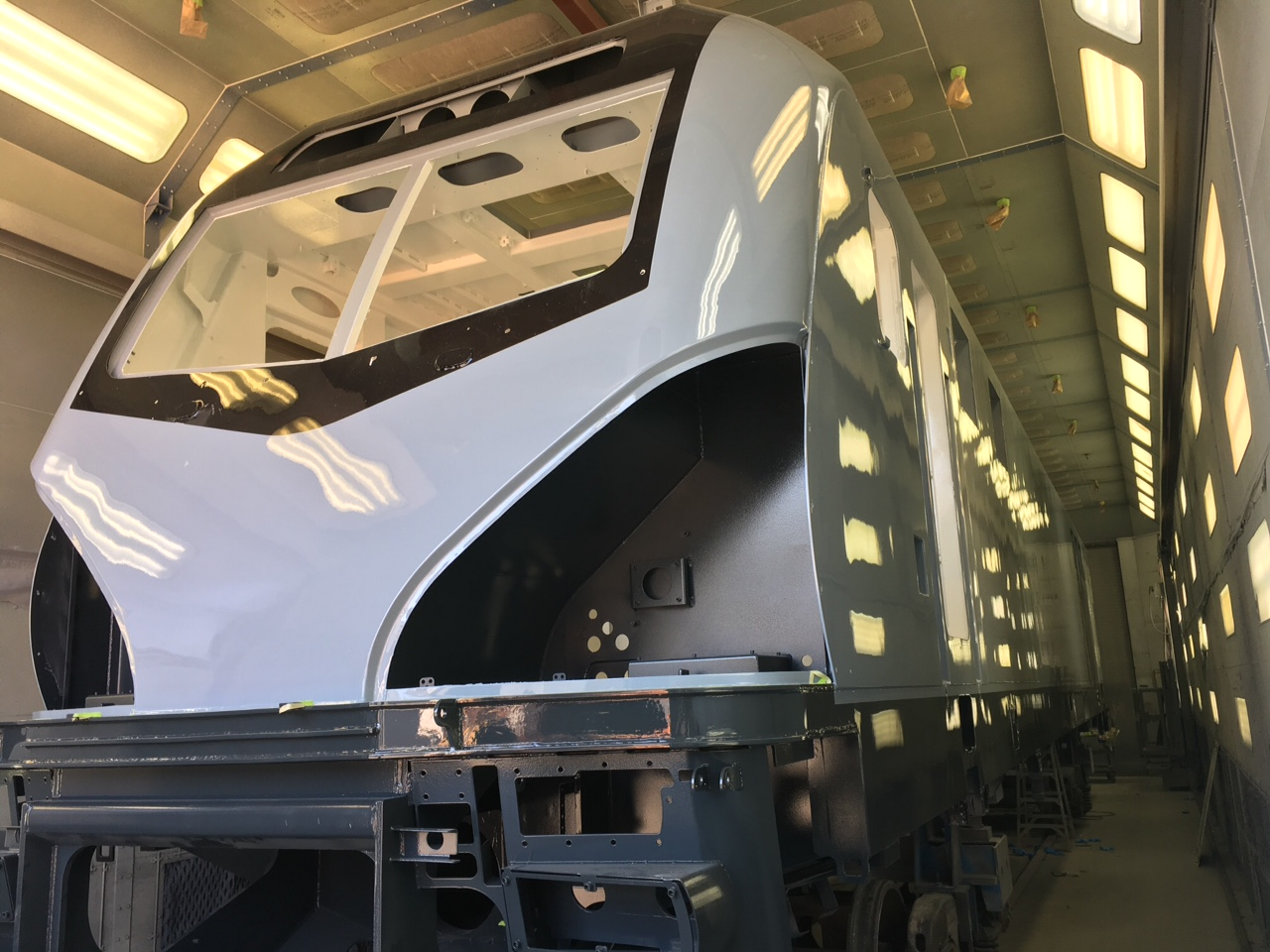ACS-64 locomotive in production at Siemens.