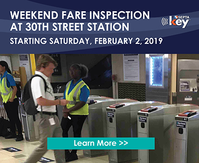 Weekend Fare Inspection at 30th Street Station